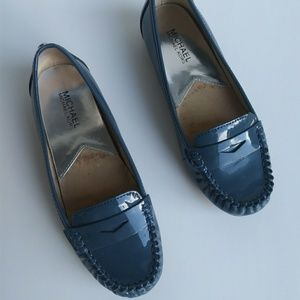 Like-New Michael Kors Blue Patent Leather Loafers